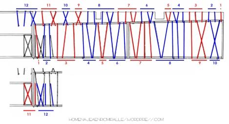 Cristalera Capilla numeros 1-12
